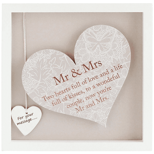 Said With Sentiment Heart Frame MR & Mrs